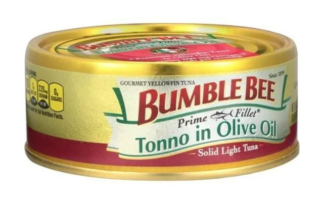 (3 Pack) Bumble Bee Prime Fillet Tonno in Olive Oil, Canned Tuna Fish, High Protein Food, 5oz Can