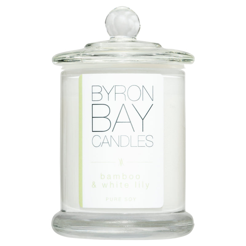 Byron Bay candle in Bamboo and White Lily