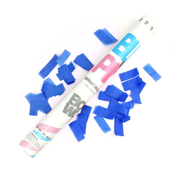 Gender Reveal Handheld Confetti Cannons 45cm
