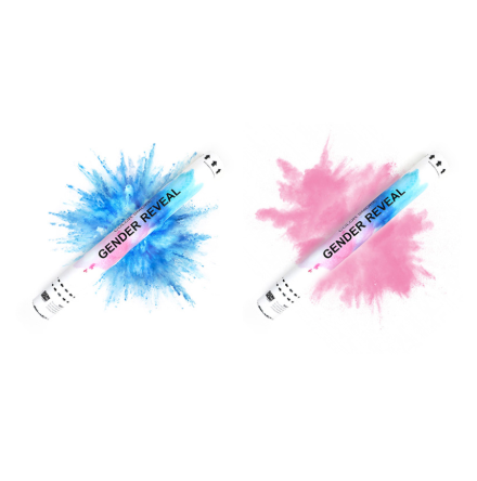 Gender Reveal Smoke Cannons Handheld 45cm