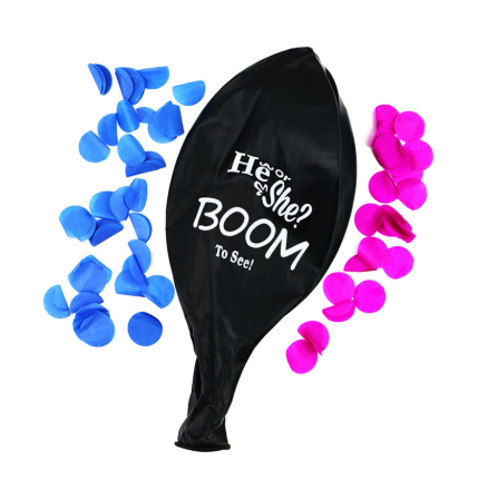 Gender Reveal Black Jumbo Balloons 36