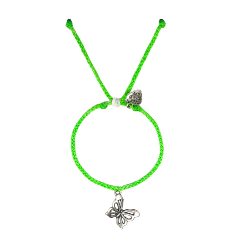 Neon Green Butterfly Charm