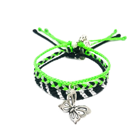Neon Green Butterfly Set