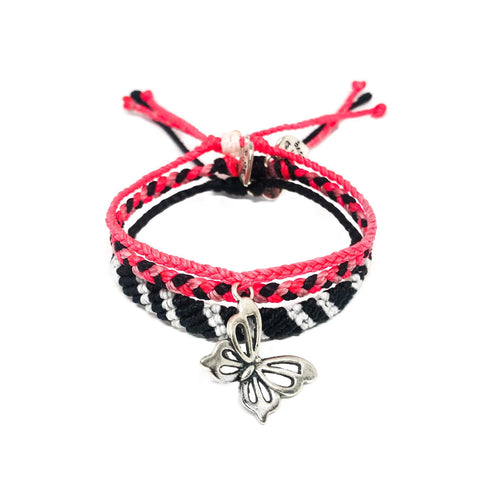 Neon Pink Butterfly Set