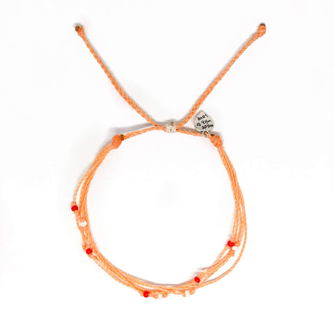 Peachy Scattered Bead Anklet