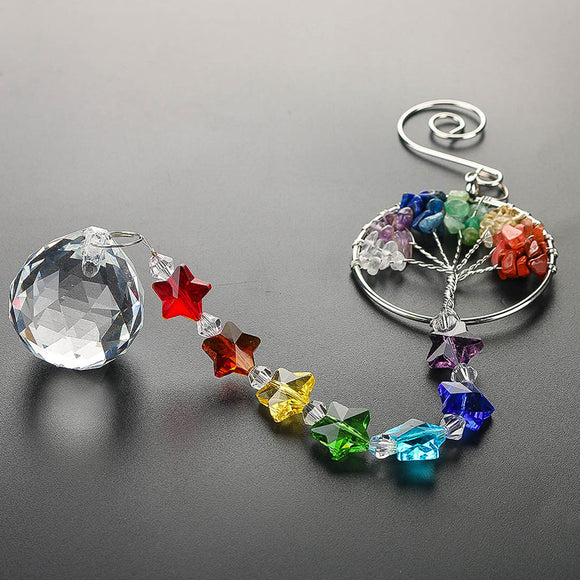 Tree of Life Crystal Suncatcher