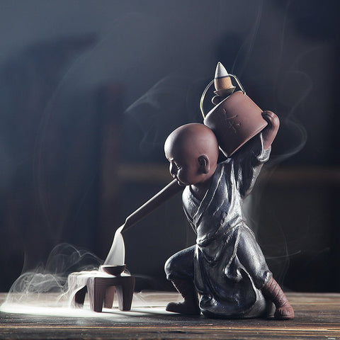 Zen Monk Backflow Incense Burner with 20 Incense Cones