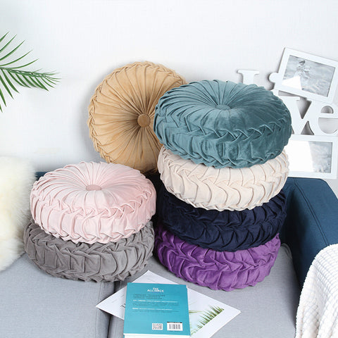 Velvet Pleated Meditation Pillow