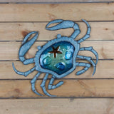 Crab Metal and Glass Wall Art