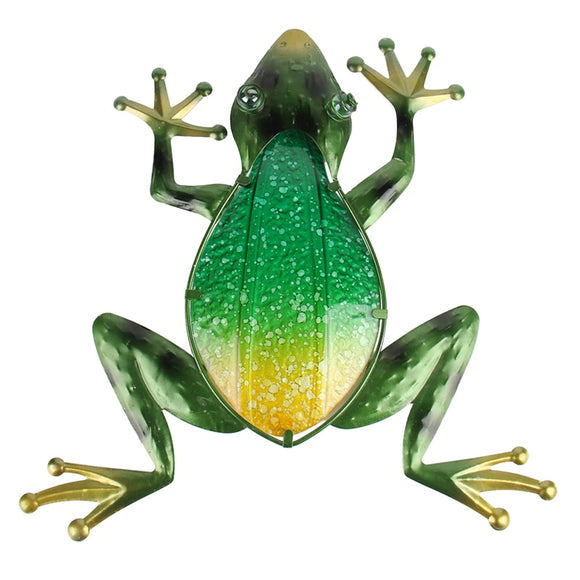 Frog Metal and Glass Wall Art