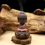 Sitting Monk Backflow Incense Burner