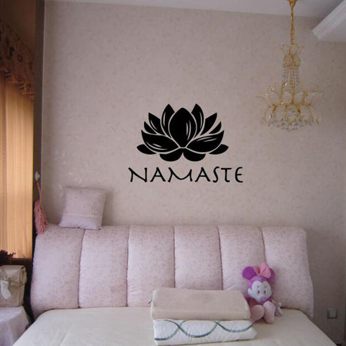Lotus Namaste Wall Decal