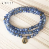Buddhist Meditation Mala Beads - Blue Aventurine