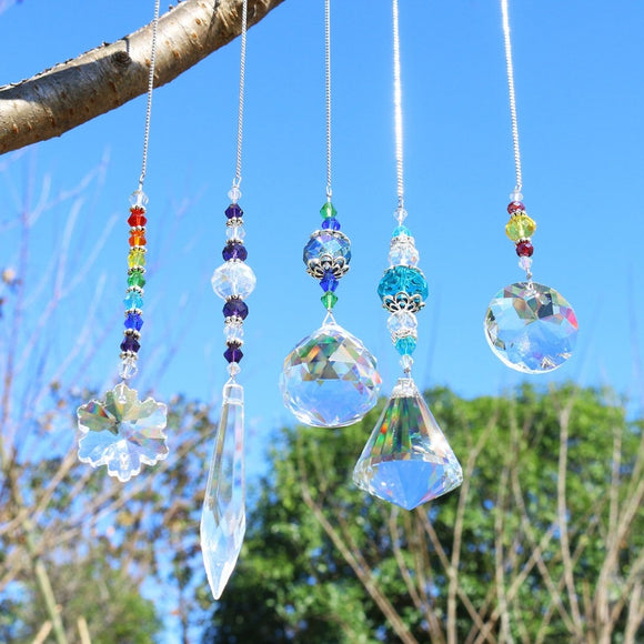 Crystal Chakra Suncatchers, Pack of 5