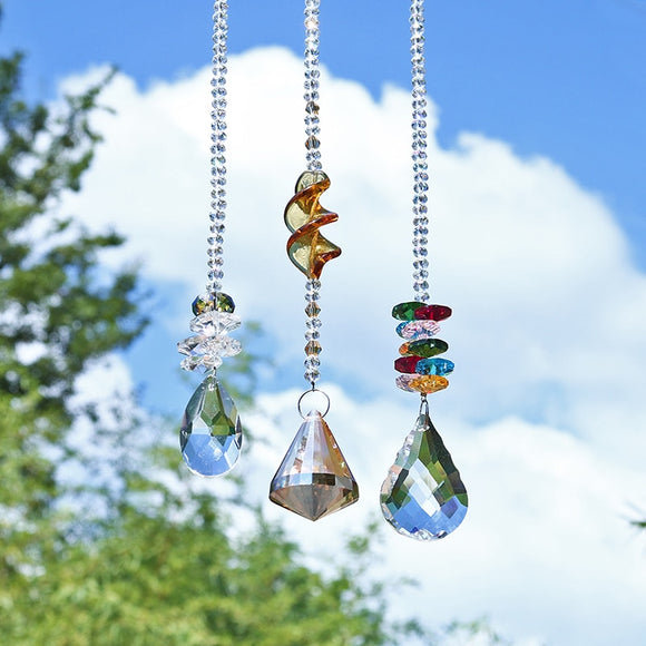 Crystal Chakra Suncatchers, Pack of 3