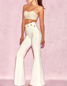 Lily High Waist Trousers,Bottoms,- Vive Collections - Online boutique featuring dresses, skirts, tops, playsuits, pants