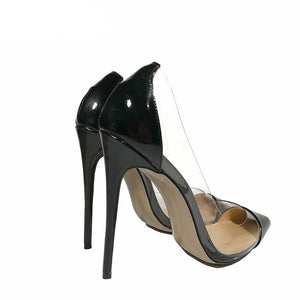 Perspex Cut Heels,Shoes,- Vive Collections - Online boutique featuring dresses, skirts, tops, playsuits, pants