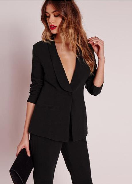 Tailored One Button Blazer,Outerwear,- Vive Collections - Online boutique featuring dresses, skirts, tops, playsuits, pants