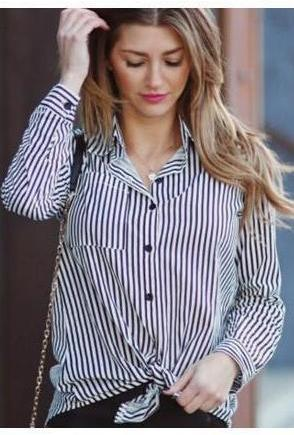 Stripe Shirt,Tops,- Vive Collections - Online boutique featuring dresses, skirts, tops, playsuits, pants