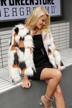 Multi Spot Faux Fur Coat,Outerwear,- Vive Collections - Online boutique featuring dresses, skirts, tops, playsuits, pants