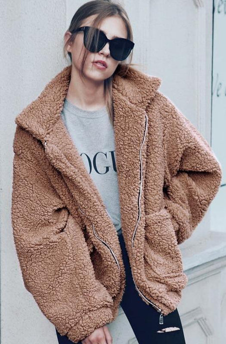 Teddy Faux Fur Coat,Outerwear,- Vive Collections - Online boutique featuring dresses, skirts, tops, playsuits, pants