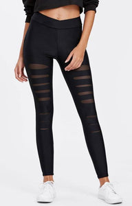 Leah Mesh Insert Leggings,Bottoms,- Vive Collections - Online boutique featuring dresses, skirts, tops, playsuits, pants