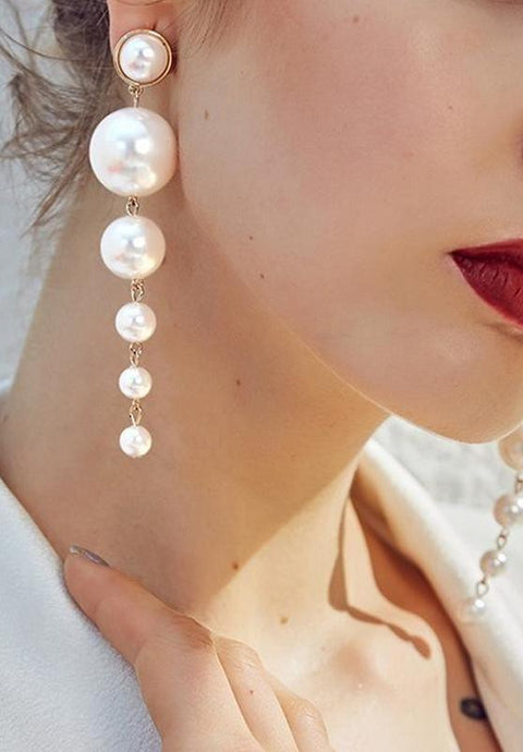 Fine Pearl Drop Earrings,Accessories,- Vive Collections - Online boutique featuring dresses, skirts, tops, playsuits, pants