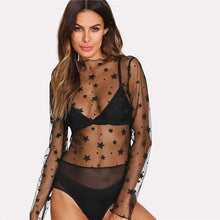 Transparent Mesh Bodysuit,Tops,- Vive Collections - Online boutique featuring dresses, skirts, tops, playsuits, pants