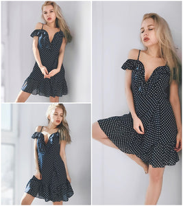 Emma Ruffle Mini Dress,Dress,- Vive Collections - Online boutique featuring dresses, skirts, tops, playsuits, pants