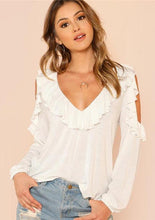 Magnolia Cold Shoulder Blouse,Tops,- Vive Collections - Online boutique featuring dresses, skirts, tops, playsuits, pants
