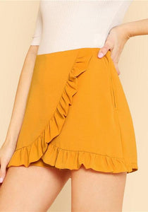 Ruffle Wrap Skorts,Bottoms,- Vive Collections - Online boutique featuring dresses, skirts, tops, playsuits, pants