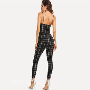 Skylar Grid Jumpsuit,Playsuit,- Vive Collections - Online boutique featuring dresses, skirts, tops, playsuits, pants