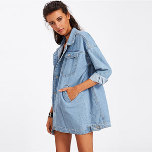 Luna Oversized Denim Jacket,Outerwear,- Vive Collections - Online boutique featuring dresses, skirts, tops, playsuits, pants
