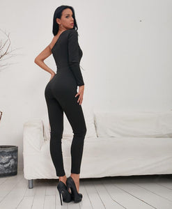 Catalina One Shoulder Jumpsuit,Playsuit,- Vive Collections - Online boutique featuring dresses, skirts, tops, playsuits, pants