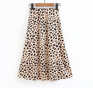 Freida Leopard Midi Skirt,Bottoms,- Vive Collections - Online boutique featuring dresses, skirts, tops, playsuits, pants
