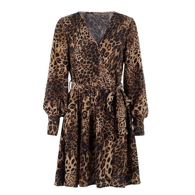 Charlotte Leopard Mini Dress,Dress,- Vive Collections - Online boutique featuring dresses, skirts, tops, playsuits, pants