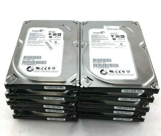 "(Lot of 10) Seagate 500GB 7200RPM 3.5"" ST500DM002 Hard Drives Tested Refurbished"