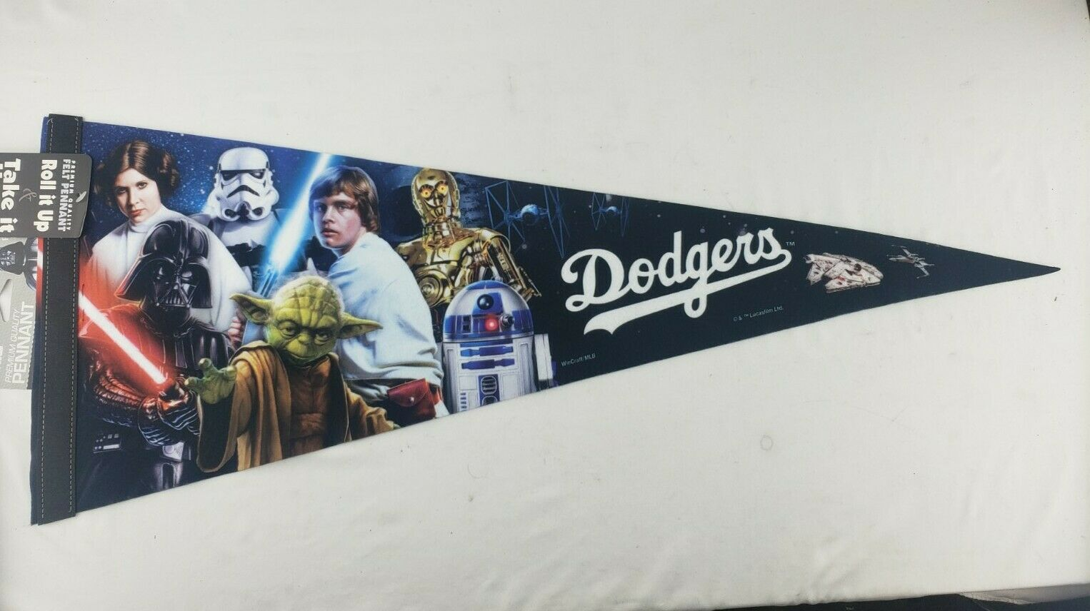 The Official Star Wars Pennant of The Baseball World Series Champion LA Dodgers