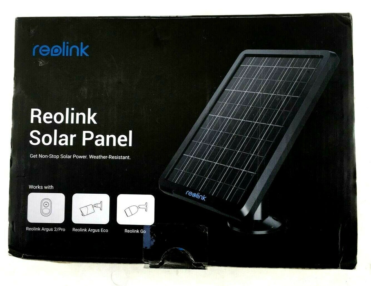 Reolink Solar Panel for Argus 2/Eco/Go Rechargeable Battery Powered IP Security