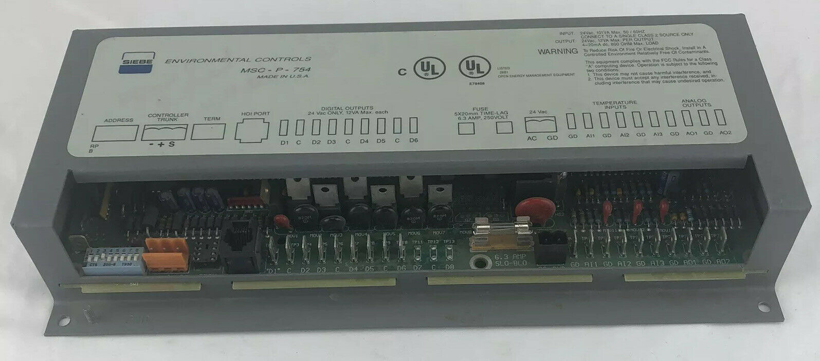 Siebe MSC-P-754 Open Energy Management Interface Controller