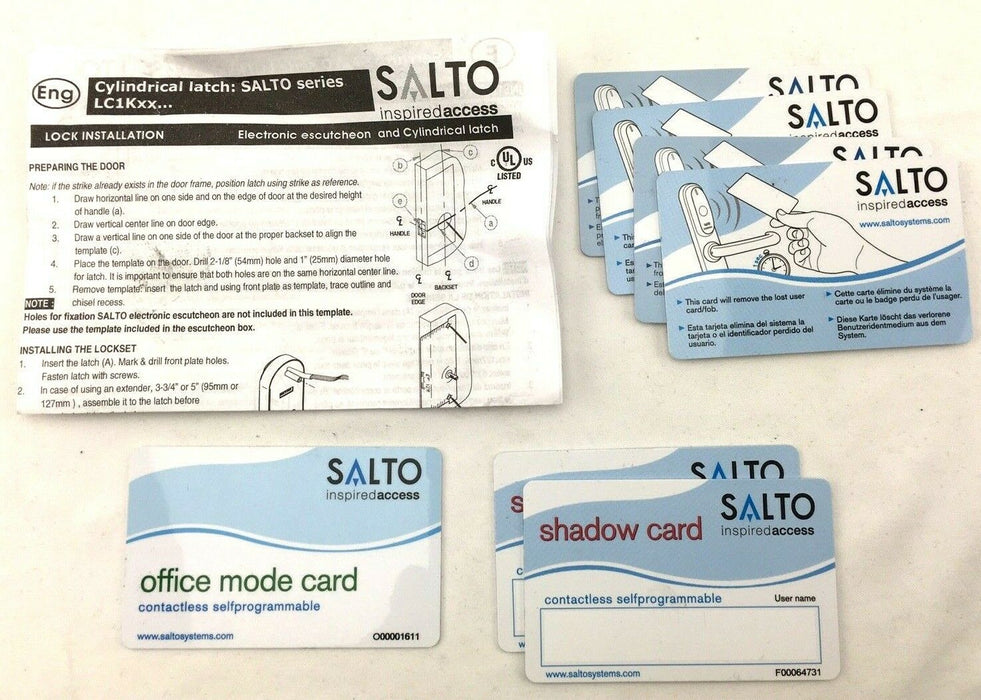 SALTO XS4 Ai6xx PARTS Door Entry Handleset Keycard Electronic Lock Hardware