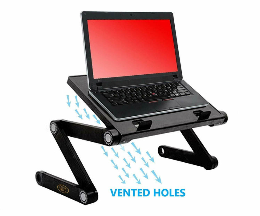Desk York Adjustable Laptop Stand Use in Bed Recliner/Sofa or Virtual Zoom Meet