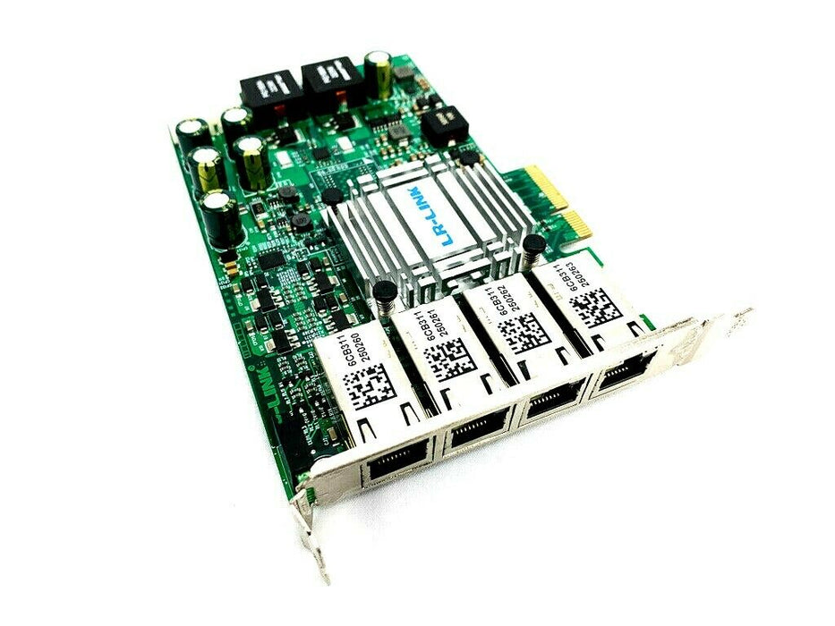 LR-Link LREC9724HT-POE 1G 4-Port PoE PCIe x4 Ethernet Server Adapter Card SFF