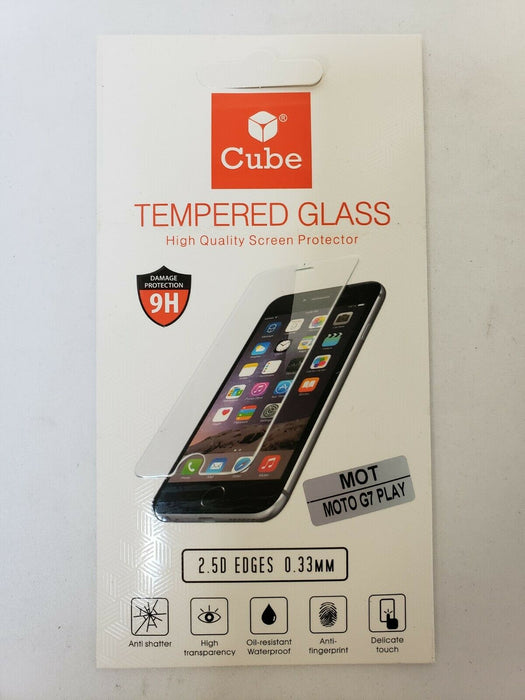Motorola G7 Play Cube Anti-Shatter Screen Protector 2-Pack Transparent Clear