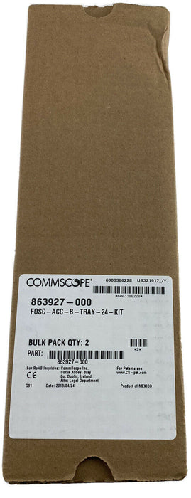 Commscope Tyco FIBER OPTIC SPLICE TRAYS FOSC-ACC-B-TRAY-24 863927-000