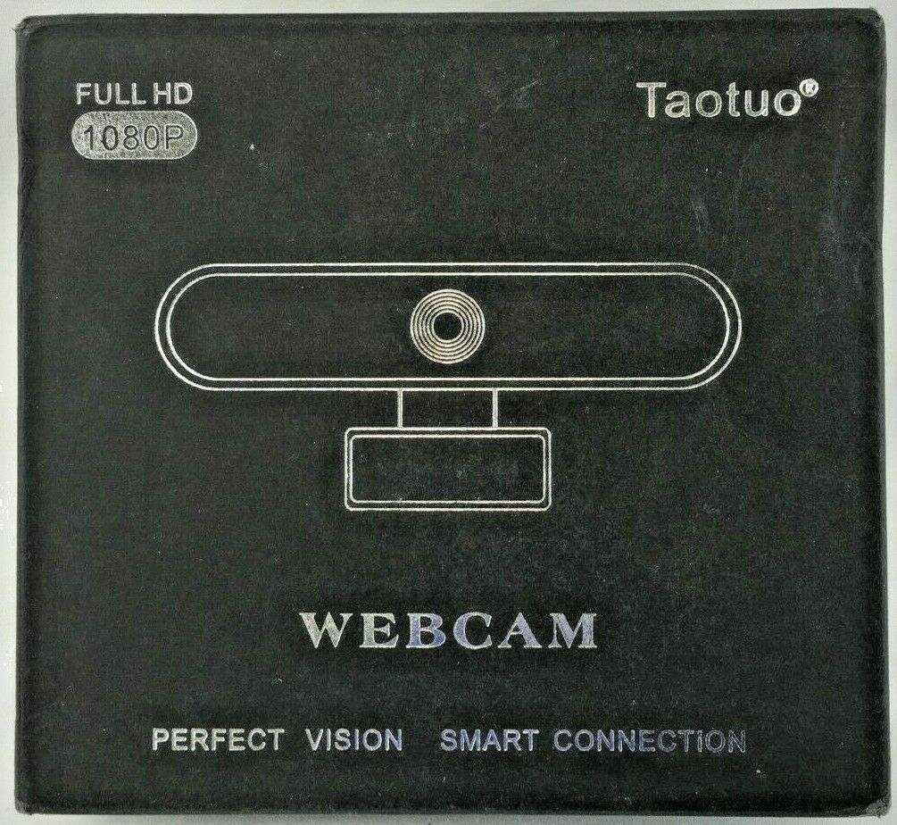 Taotuo Webcam Full HD 1080p w/ Mic Digital Noise Reduction for School Work Zoom