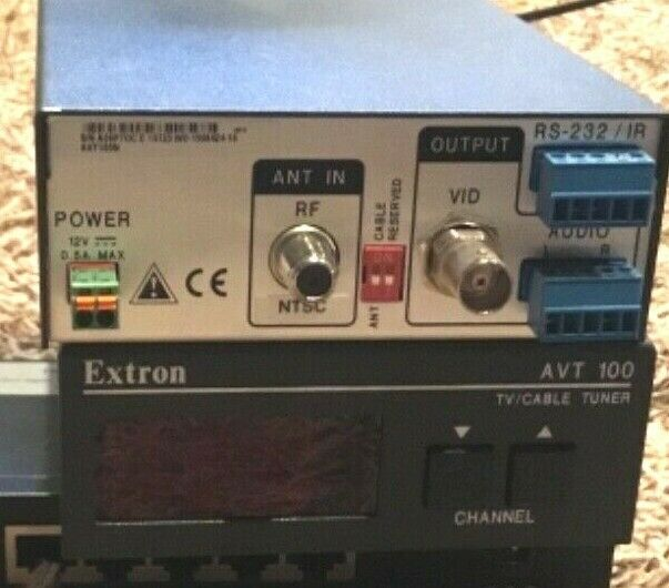 Extron AVT100N Analog CCTV Demodulator Tuner RF BNC Twist 60-647-01 RS-232
