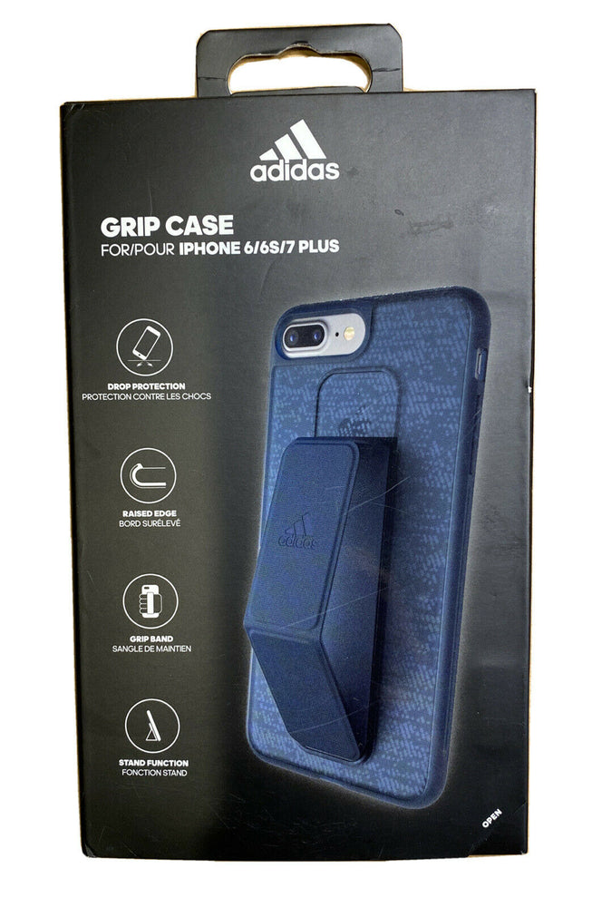 ADIDAS Grip Back Cover Case Stand for Apple iPhone 8 Plus/iPhone 7/6Plus Blue