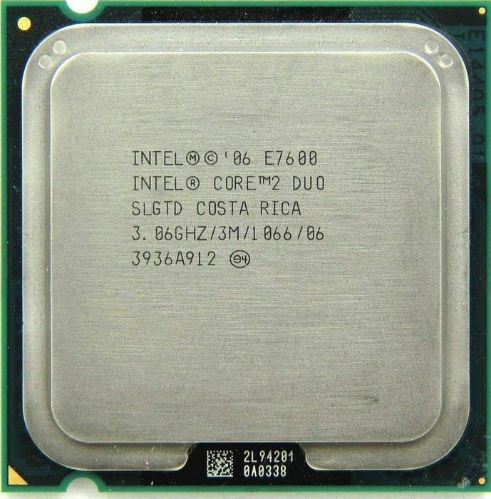 Intel Core 2 DUO E7600 3.06GHz 3MB Cache Socket 775 CPU Processor SLGTD