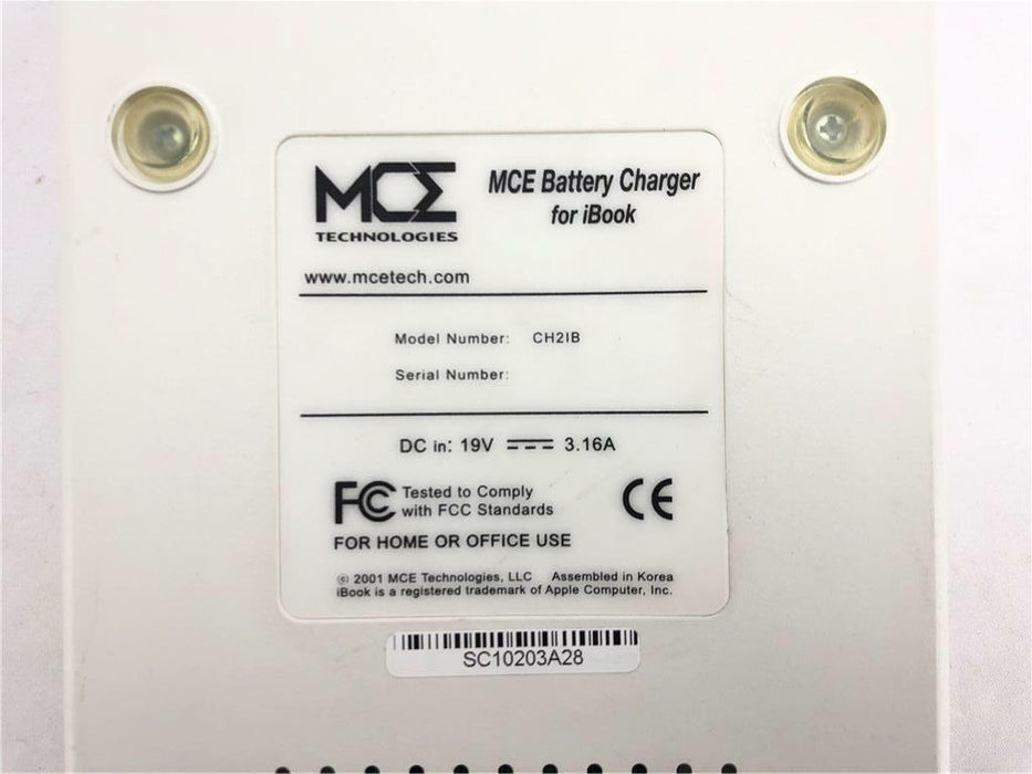 MCE CH21B 2 Channel Dual-USB Battery Charger for Apple iBook 19V 3.16A